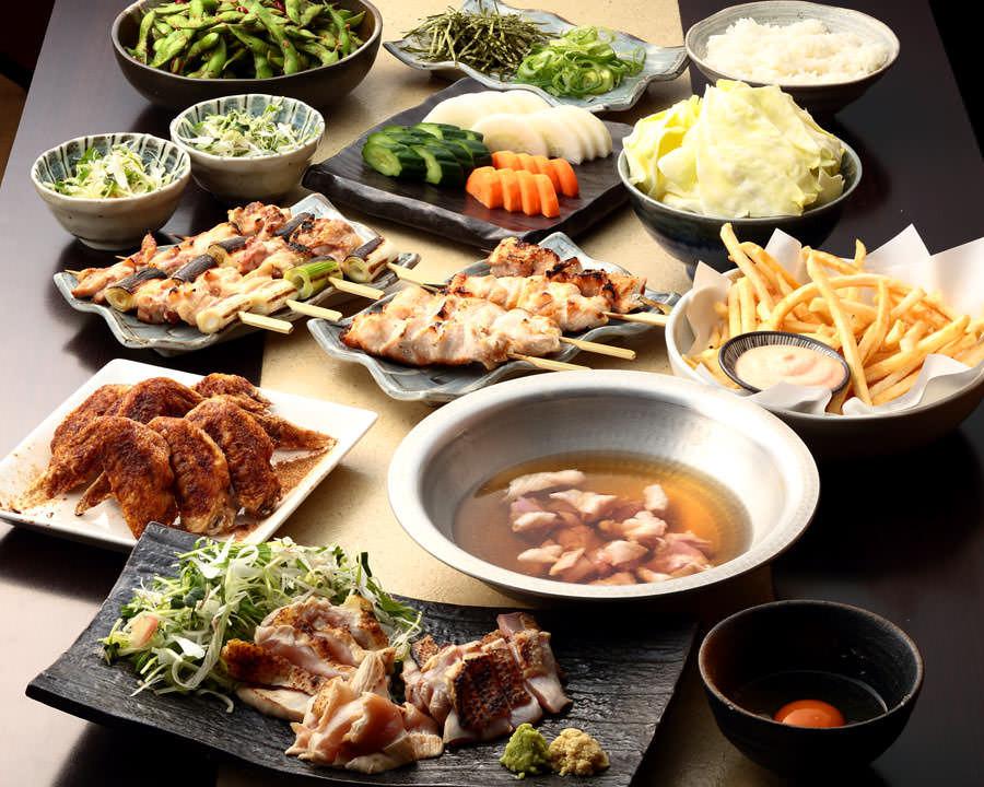 とりいちず酒場 鶴見東口店の鶏料理を満喫できる〈食べ放題×飲み放題コース〉